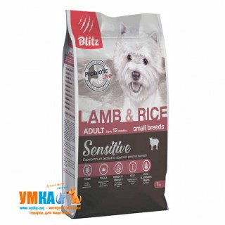 Blitz Lamb & Rice Small Breeds Adult, корм для мелких пород собак, ягненок и рис, 7 кг