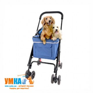 Ibiyaya коляска для собак и кошек Astro Mini Pet Buggy синяя